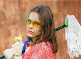 Praca związana ze sprzątaniem
